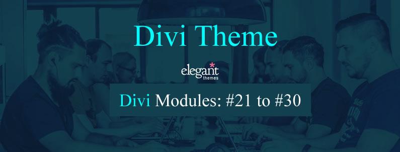Divi content modules 21 to 30