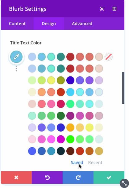 divi colour manager colour suggestions